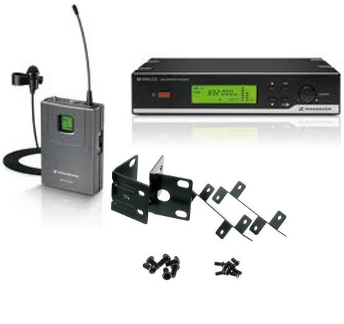 Sennheiser XSW 12 Wireless System (Frequency: 614-638 MHz) with Lavalier Microphone and Sennheiser Rack Mount Kit