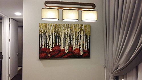 UAC WALL ARTS Watercolor Woods Hand Painted Canvas Wall Art for Home Wall Decor by UAC WALL ARTS (Image #3)