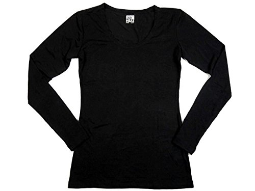 32 Degrees Weatherproof Womens Long Sleeve Scoop Neck