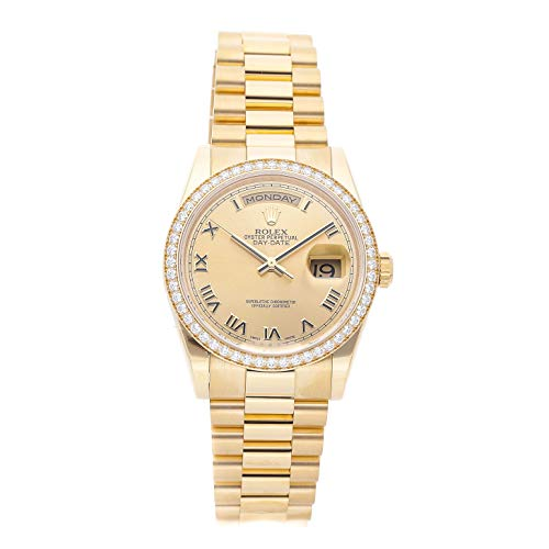 Rolex Day-Date Mechanical (Automatic) Champagne Dial Mens Watch 118348 (Certified Pre-Owned)