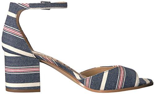 Sam Edelman Sandalias de la mujer Susie vestido Blue/Multi Americana Stripe