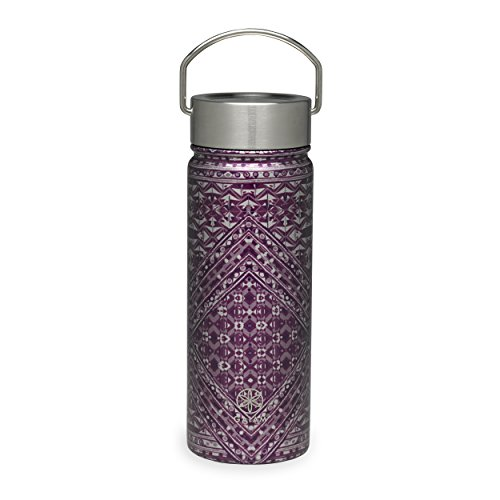 Gaiam Stainless Steel Wide-Mouth Water Bottle, Mosaic, 18 oz