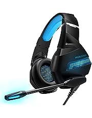 سماعات ألعاب بجاك 3.5 ملم للموبايل والبلاى ستيشن 4 والكمبيوتر بميكروفون وتحكم في درجة الصوت MG9 - بإضاءة ليد