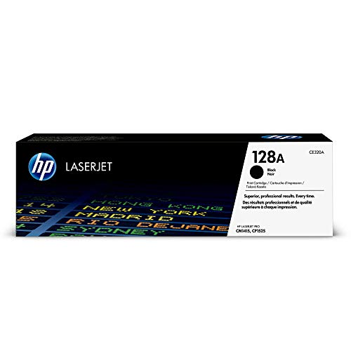 HP 128A (CE320A) Black Original Toner Cartridge ()
