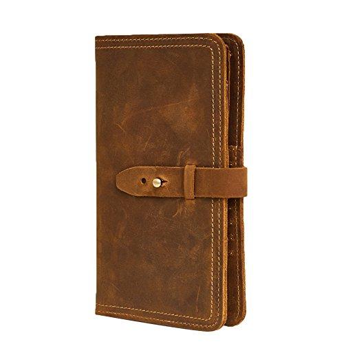 Leather Travel Wallet (Genda 2Archer Leather Multi-Purpose Travel Wallet Card Passport Holder for Men & Women (Brown))