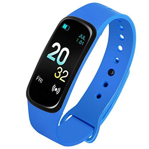 CAVIOT Blue Smart Bluetooth Fitness Tracker Waterproof Band Watch for Men Women and Kids – CW1306