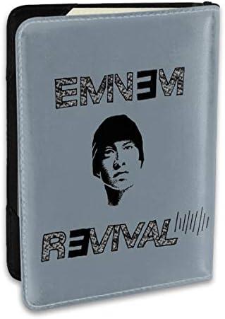 エミネム Eminem パスポートケース メンズ 男女兼用 パスポートカバー パスポート用カバー パスポートバッグ ポーチ 6.5インチ高級PUレザー 三つのカードケース 家族 国内海外旅行用品 多機能