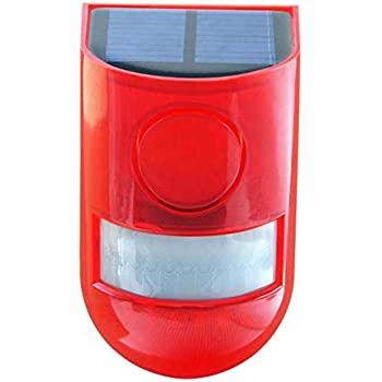 Amazon.com: Sirena de alarma solar con 6 luces LED con ...