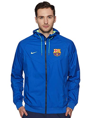 Nike Men's Barcelona Authentic Wind Runner Soccer Jacket (Small) Game Royal