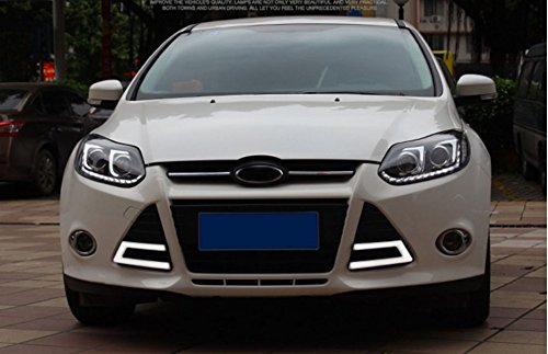 GOWE Car Styling Headlights for Ford Focus 2012-2014 LED Headlight for Focus Head Lamp LED Daytime Running Light LED DRL Color Temperature:6000k;Wattage:35w 2