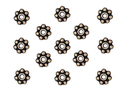 TierraCast Daisy Heishi Beads, 4mm, Antique Brass