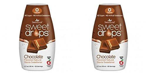 SweetLeaf Chocolate Sweet Drops Liquid Stevia Sweetener (Pack of 2) With Stevia Leaf Extract and No Artificial Sweetness, 1.7 fl. oz. (50 mL). ()