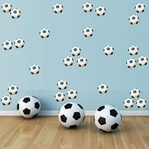 TOARTi Football Wall Decal (36Pcs), Sport Theme Wall Sticker For Baby Boys Bedroom Decoration , Playroom Game Room Nursery Soccer Ball Wall Art]()