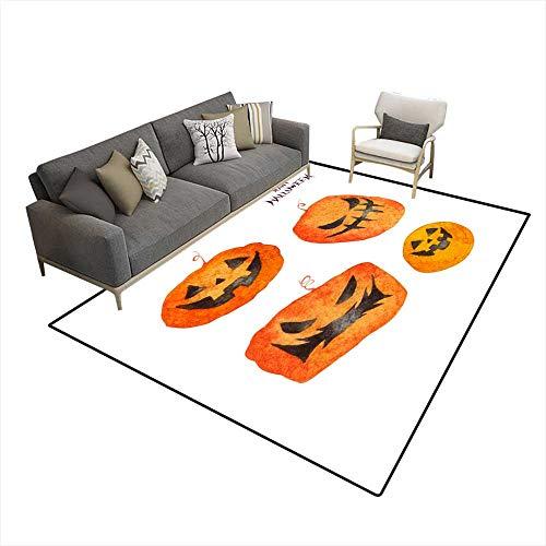 Kids Carpet Playmat Rug Halloween Pumpkin 6'6