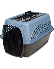 Petmate 21231 Two Door Top Load 24-Inch Pet Kennel, Metallic Pearl Ash Blue and Coffee Ground Bottom
