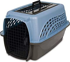 Petmate's Two Door Top Load kennel keeps pets comfortable and secure, giving pet parents peace of mind. The Petmate Two Door Top Load kennel features a unique top-loading door that allows pet parents to easily place and remove pets from the c...