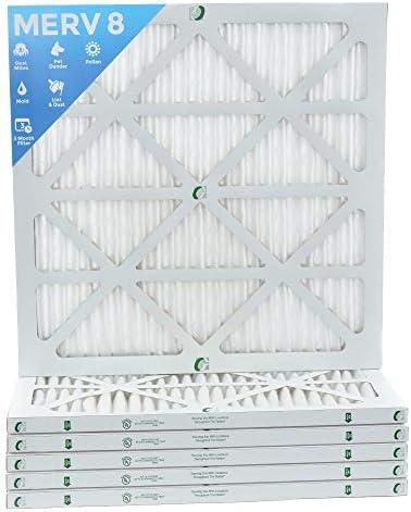 [해외]20x20x1 MERV 8 Pleated AC Furnace Air Filters. 6 Pack. Actual Size:19-12 x 19-12 x 78 / 20x20x1 MERV 8 Pleated AC Furnace Air Filters. 6 Pack. Actual Size:19-12 x 19-12 x 78
