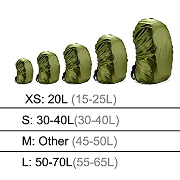 X-xiazhi,bao Sac /À Dos Housse De Pluie 60L 50L 40L 30L 25L 20L Sac /Étanche Camo Militaire Tactique Camping Randonn/ée Sac Pliant en Nylon Imperm/éable Costume