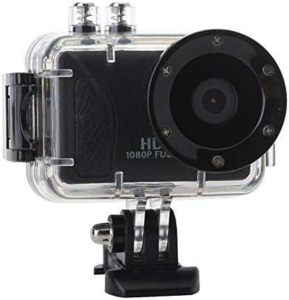 スポーツカメラ 車スポーツアクションDVR防水80M 1080P HDの無線LAN対応 使用可能 多数バイクや自転車や車に取り付け可能 (Color : Black, Size : One size)