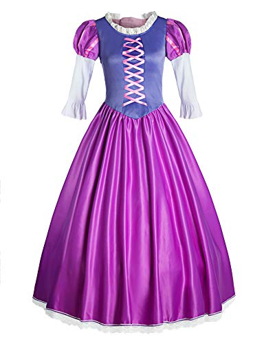 ReliBeauty Womens Tangled Rapunzel Costume Dress up, 4-6 Purple -