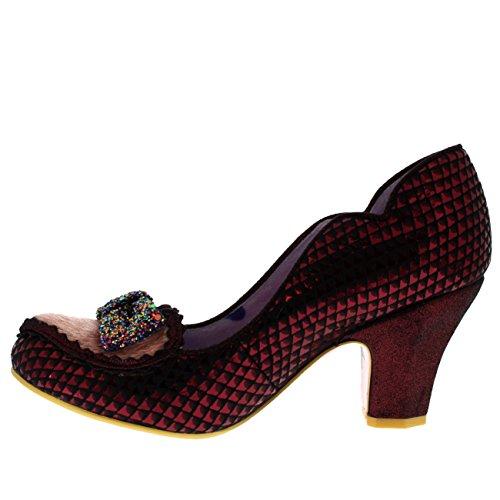 Scelta Irregolare Scarpe Da Donna Miss Issippi Sintetiche Rosso Scuro
