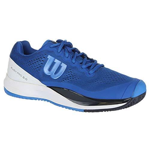 Wilson Men's Rush Pro 3.0 Imperial Blue/White/Brilliant Blue 10.5 D - Casual Pro Shoes