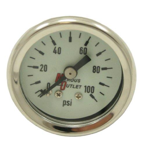 - Nitrous Outlet Luminescent Fuel Pressure Gauge (0-100psi)