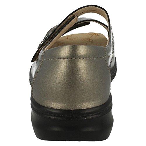 Ladies Padders 4E Fitting Sandals Shore2 Pewter Q5tuXH