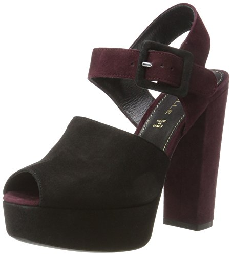nero bordeaux Maddy Mille Dei Bride Sandales Cheville Multicolore Femme 0vW1qn