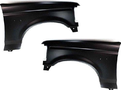 Evan-Fischer EVA16965132802 New Set of 2 Fenders Front Quarter Panels Driver & Passenger Side LH RH F4TZ16006A, F2TZ16005A ()