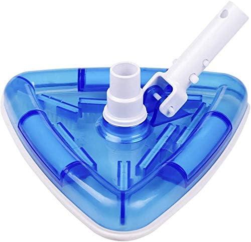 POOLWHALE Sea-Thru Transparent Triangular Blue Vacuum Head