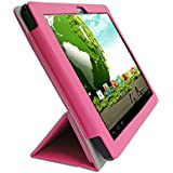 iShoppingdeals - for Le Pan II & S Tablet 9.7-INCH PU Leather Folio Cover Case, Pink