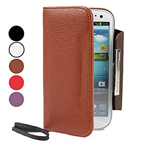 TOPQQ ships in 48 hours PU Leather Case with Wallet and Card Slot for Samsung Galaxy S3 I9300 (Assorted Colors) , White