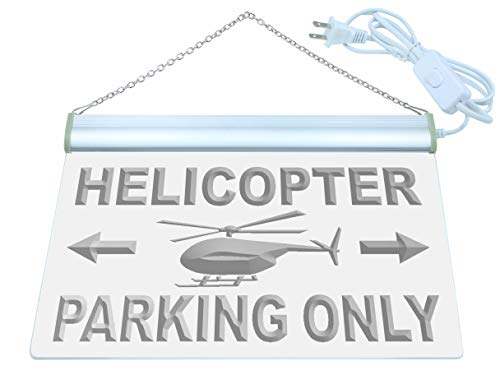 ADV PRO Helicopter Parking Only LED Neon Sign Green 12'' x 8.5'' st4s32-m362-g by ADV PRO