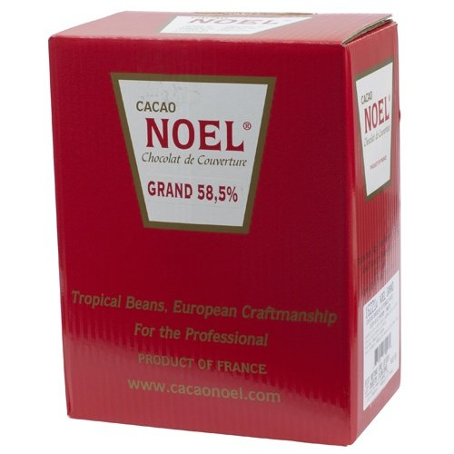 Noel Dark Chocolate Pistoles - Semisweet 58.5%, Grand - 1 box - 11 lb by Noel