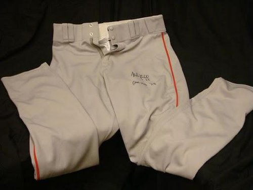 Mike Lowell Signed Game Used 2008 Red Sox Away Pants - Other Game Used MLB Autographed Items