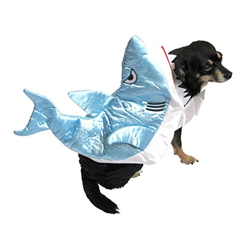 Shark Dog Costume Silky Blue Fish Pet Outfit
