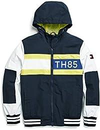 Men's Adaptive Windbreaker Jacket with Magnetic Zipper and Hood