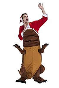 YOU LOOK UGLY TODAY Christmas Party Costumes, Dinosaur Ride Me Adult Carry On Piggy Back Fancy Dress