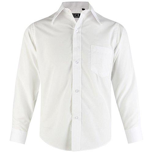 Formell Eleganter Hochzeitsanzug PartyAlter Gre 1 Langermel Ael Shirt Plain 15 Jahre Wei Jungen 67Yfbgyv