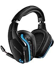 Logitech G935 Draadloze Gaming Headset, RGB, 7.1 surround sound, DTS Headphone:X 2.0, 50mm Pro-G drivers, 2.4GHz draadloos, flip-to-mute microfoon, PC/Mac/Xbox One/PS4/Nintendo SWitch - Zwart