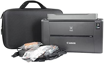 Anleo Hard Travel Case Fits Canon PIXMA TR150 / iP110 Wireless Mobile Printer with Battery 41f84mgzf5L