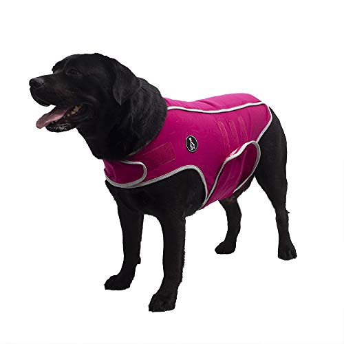 X@HE Comfort Dog Anxiety Relief Coat, Dog Anxiety Calming Vest Wrap,Thunder Shirts Jacket for XS Small Medium Large XL Dogs,Rose Grey,XL