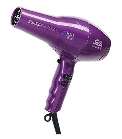 Swiss Solis secador de pelo Perfection ca colour negro o morado 2300 vatios: Amazon.es: Salud y cuidado personal