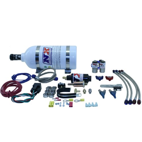 (Nitrous Express 62026P Mainline Direct Port Nitrous System For Carbureted 2 Cylinder Engines 20-50 HP w/2.5 lb. Bottle Motorcycle Mainline Direct Port Nitrous System)