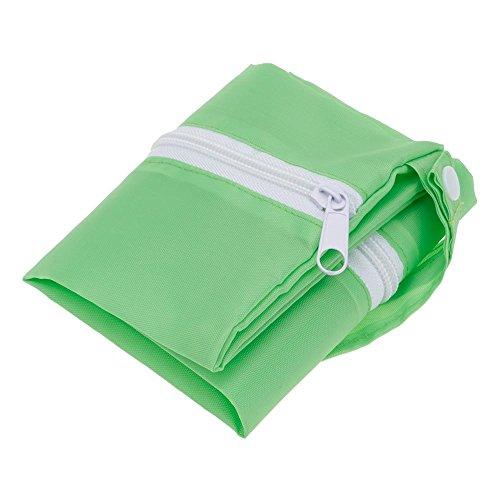 HuntGold Paño del bebé de los bolsos mojados de la cremallera 1PC del pañal inserta el recorrido del totalizador del bolso del almacenaje -- Melocotón Verde