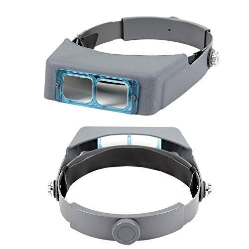 Wisehands Head Mounted Professional Magnifier for Professional /Student Dual Function 4-Levels of Magnification and Greater Illumination for Reading