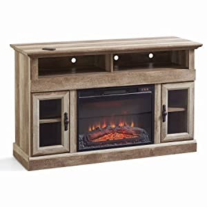 Better Homes And Gardens Crossmill Fireplace Media Console Weathered Finish