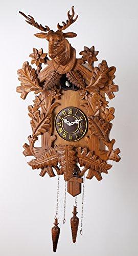 Deluxe 20-inch Large Elk Head Cuckoo Clock, Home Decor, Specialty Quality, Quartz Timepieces - C00035 - Elk Cuckoo Clock