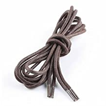 GOOTRADES Leather Shoes Laces Strings Solid Color Round Waxed (pack of 2)